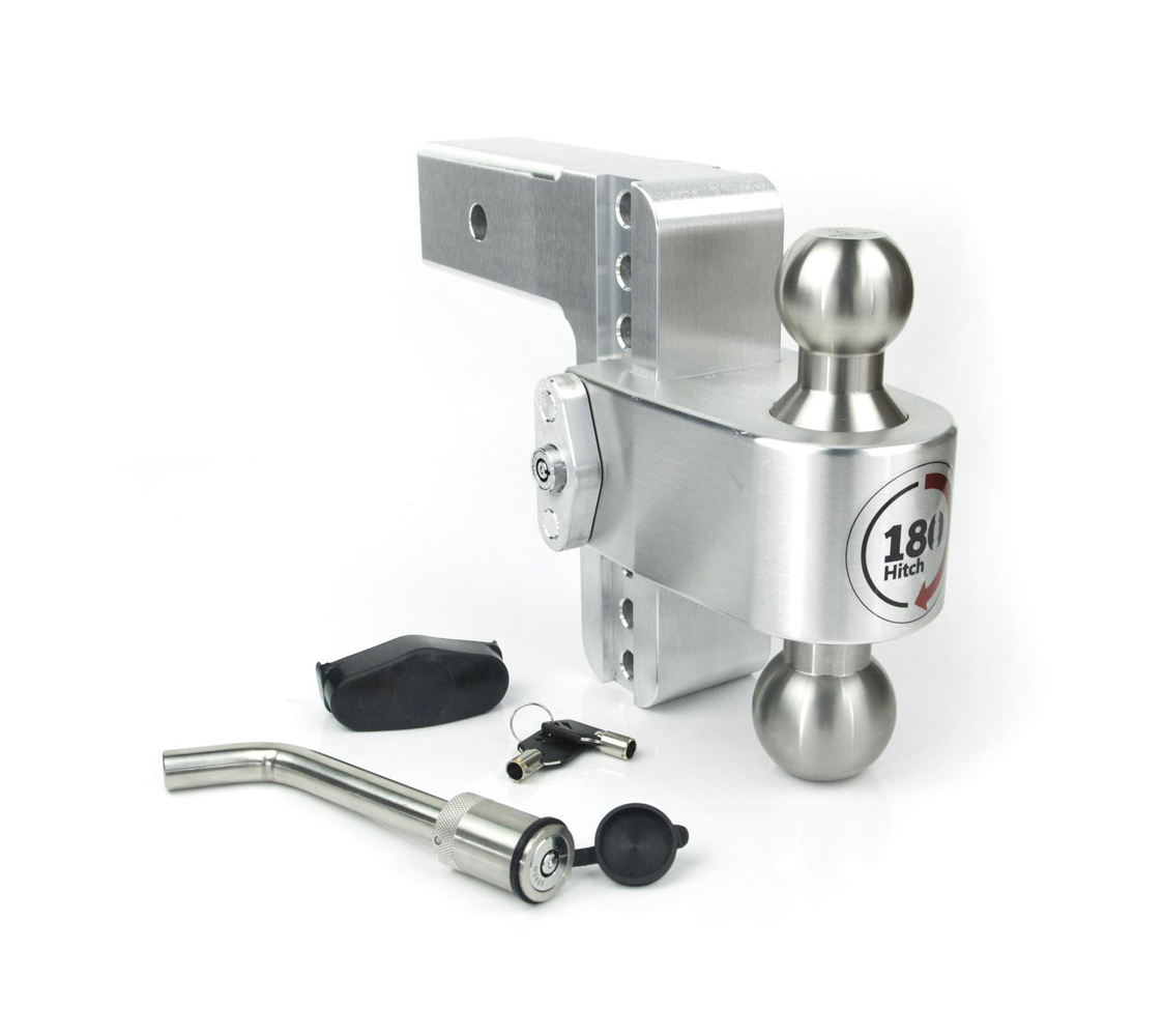 Weight Safe LTB6-2.5-KA Ball Mount Hitch, 2-1/2 in Shaft, 2 / 2-5/16 in Hitch, 6 in Drop, 8000 / 18500 lb Capacity, Keyed Alike, Aluminum / Stainless, Natural, Kit