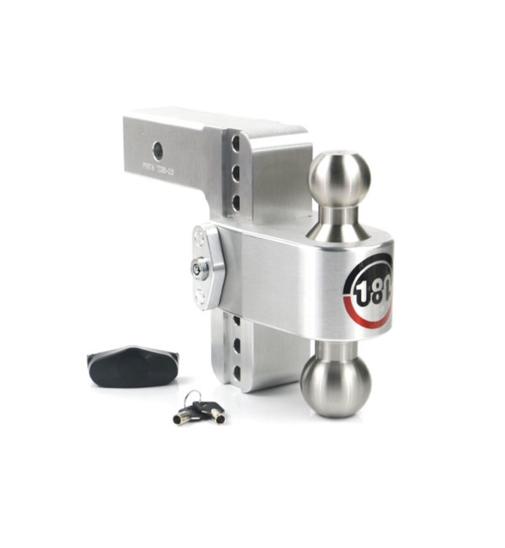 Weight Safe LTB6-2.5 Ball Mount Hitch, 2-1/2 in Shaft, 2 / 2-5/16 in Hitch, 6 in Drop, 8000 / 18500 lb Capacity, Aluminum / Stainless, Natural, Kit