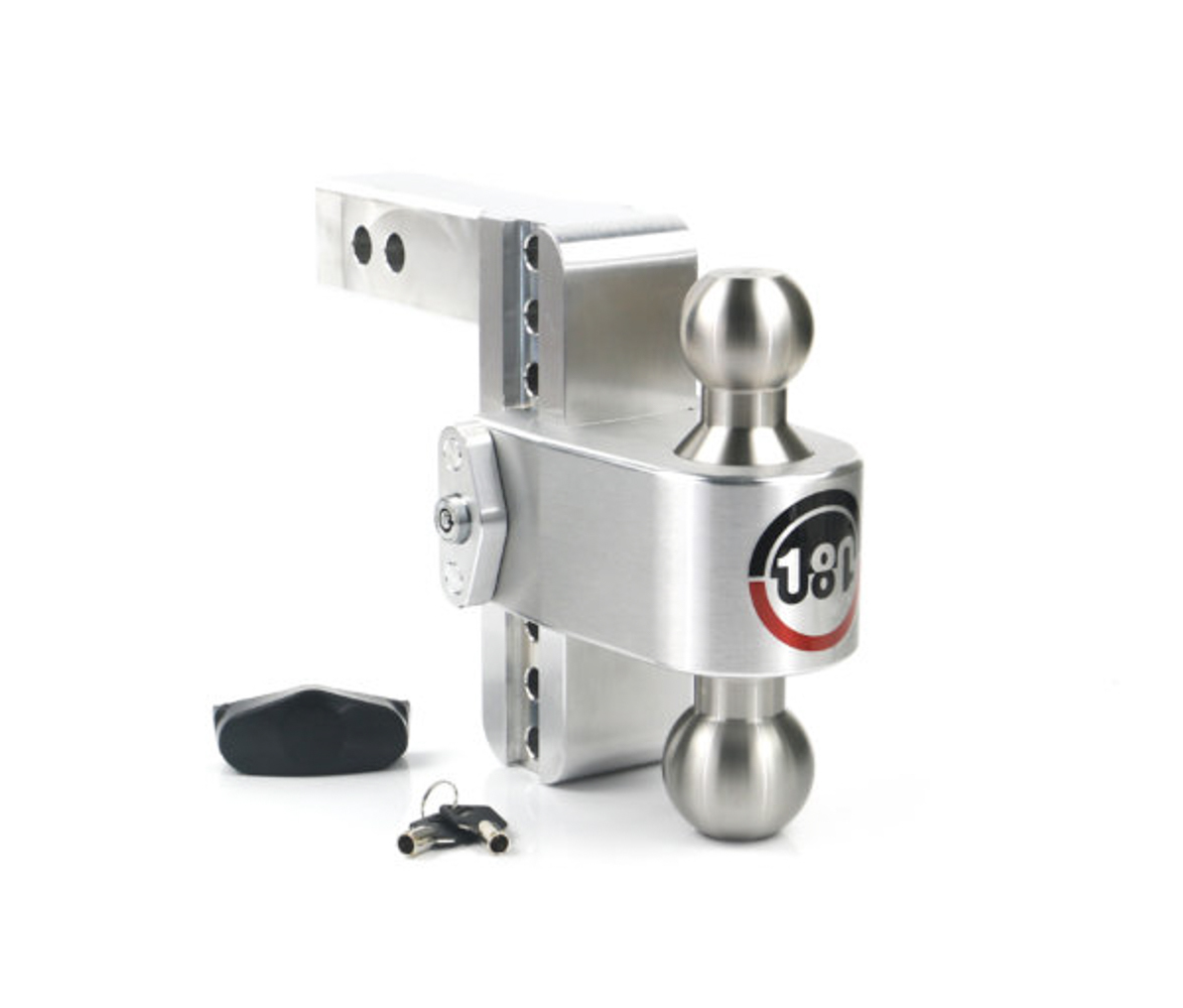 Weight Safe LTB6-2 Ball Mount Hitch, 2 in Shaft, 2 / 2-5/16 in Hitch, 6 in Drop, 8000 / 12500 lb Capacity, Aluminum / Stainless, Natural, Kit