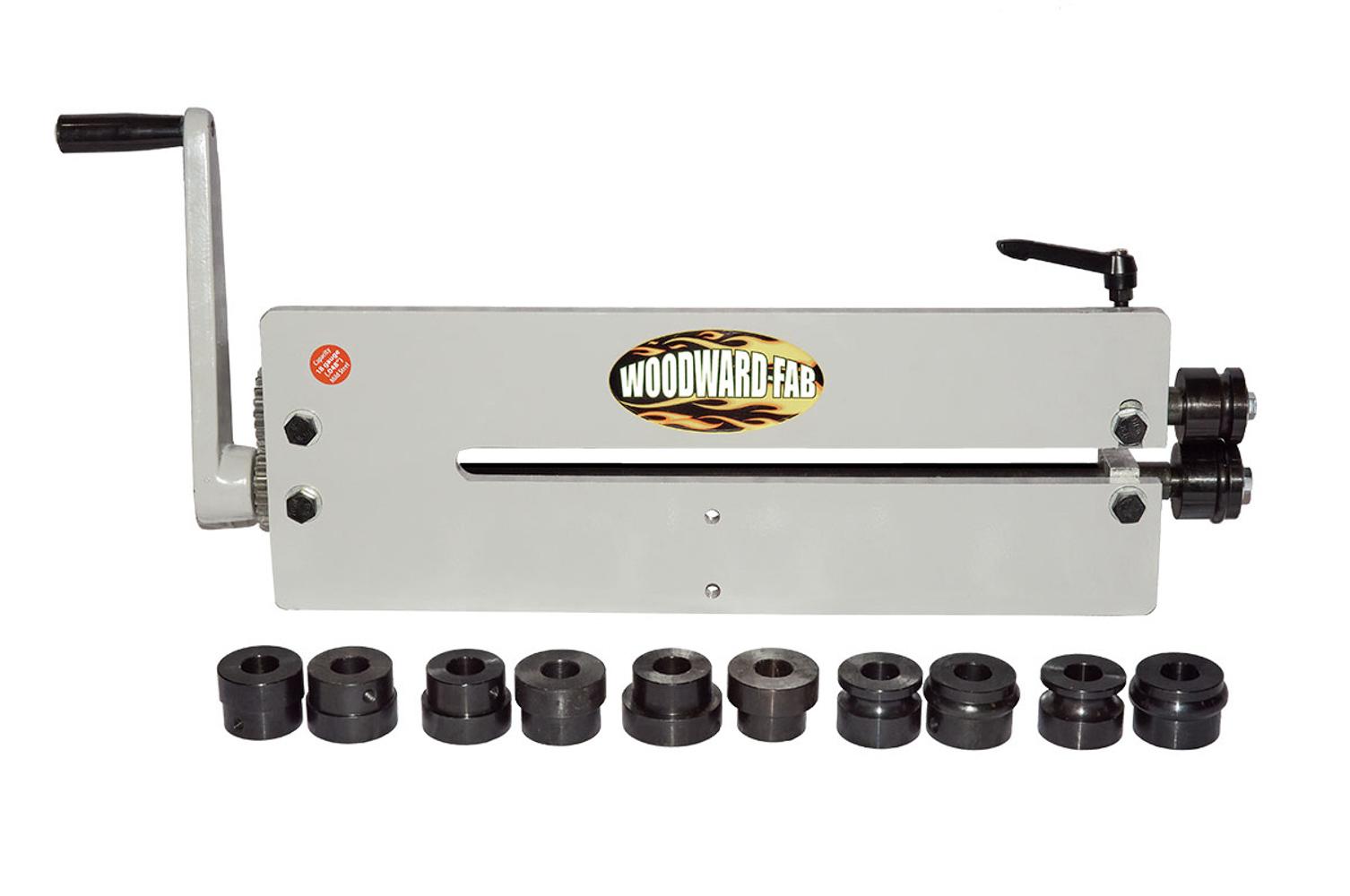 Woodward Fab WFBR6 Bead Roller, 18 Gauge Material Maximum, Manual Control, Dies Included, Steel, Gray, Kit