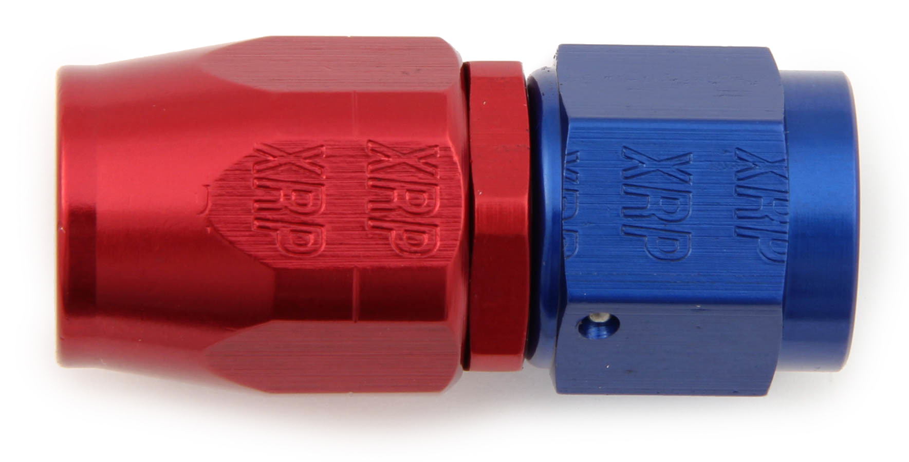 XRP 100004 Fitting, Hose End, Straight, 4 AN Hose to 4 AN Female, Aluminum, Blue / Red Anodize, Each