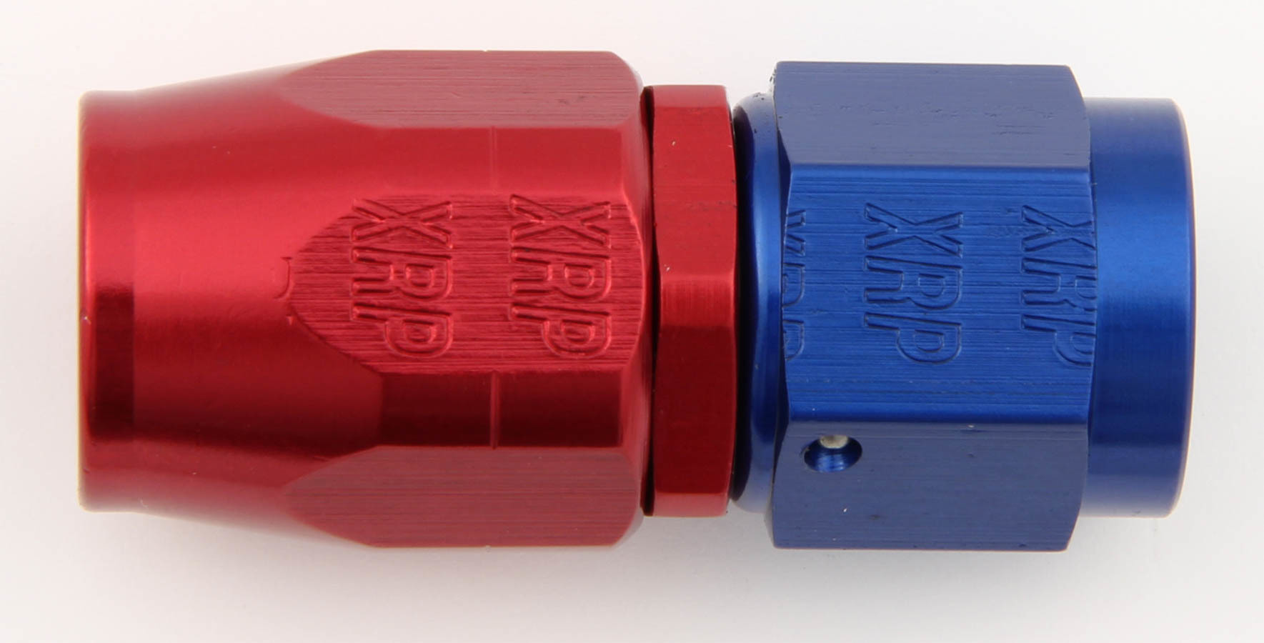 XRP 100006 Fitting, Hose End, Straight, 6 AN Hose to 6 AN Female, Aluminum, Blue / Red Anodize, Each