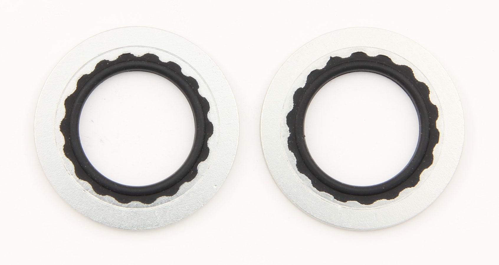 XRP 890216 Sealing Washer, Stat-O-Seal, 1 in ID, Aluminum Washer, Buna N O-Ring, Pair