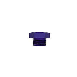 XRP 981410 Fitting, Plug, 10 AN, O-Ring, Hex Head, Aluminum, Blue Anodized, Each
