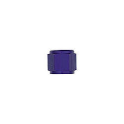XRP 981804-6 Fitting, Tube Nut, 4 AN, 1/4 in Tube, Aluminum, Blue Anodized, Set of 6
