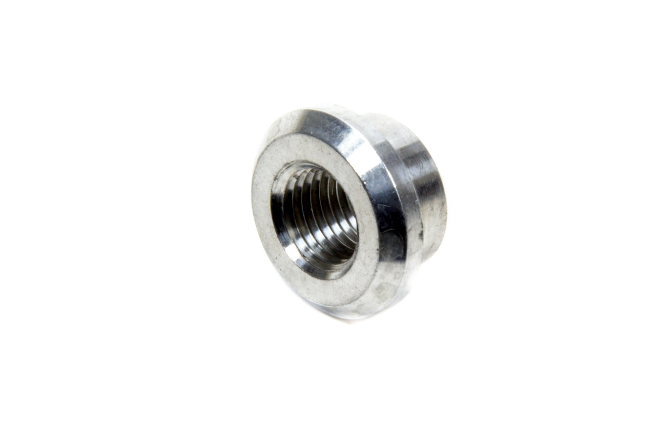 XRP 996802 Bung, 1/4 in NPT Female, Weld-On, Recessed Flange, Aluminum, Natural, Each