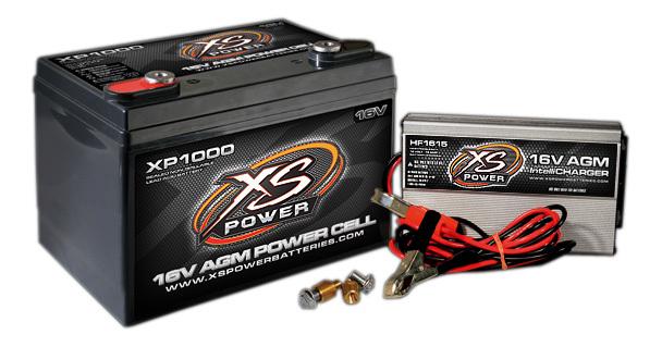AGM Battery 16v 2 Post & HF Charger Combo Kit