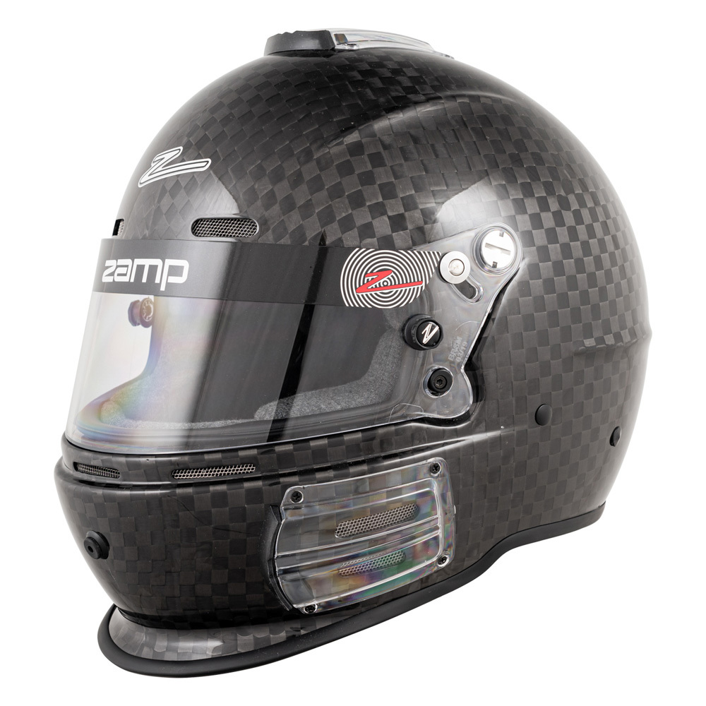 Zamp H763CB3L Helmet, RS-64C, Full Face, Snell SA2020, Head and Neck Support Ready, Carbon Fiber, Large, Each