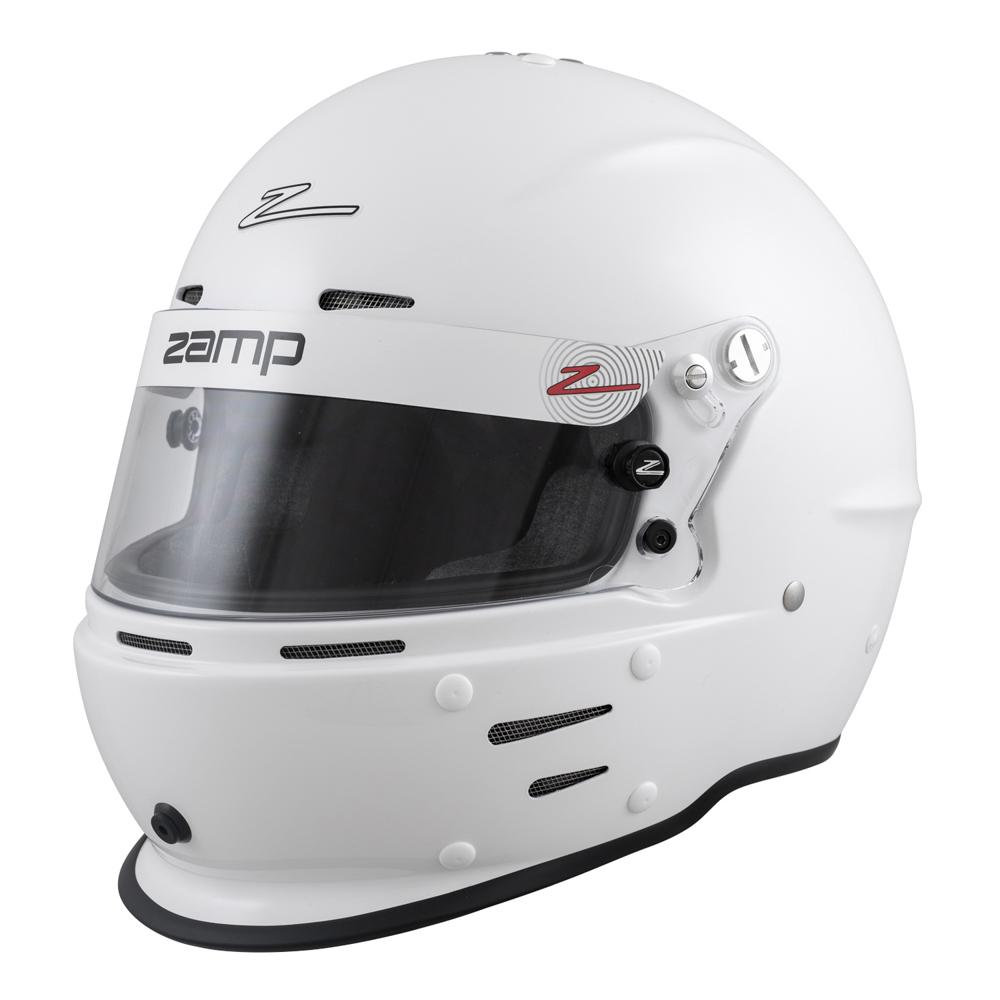 Zamp H764001M Helmet, RZ-62, Full Face, Snell SA2020, Head and Neck Support Ready, White, Medium, Each