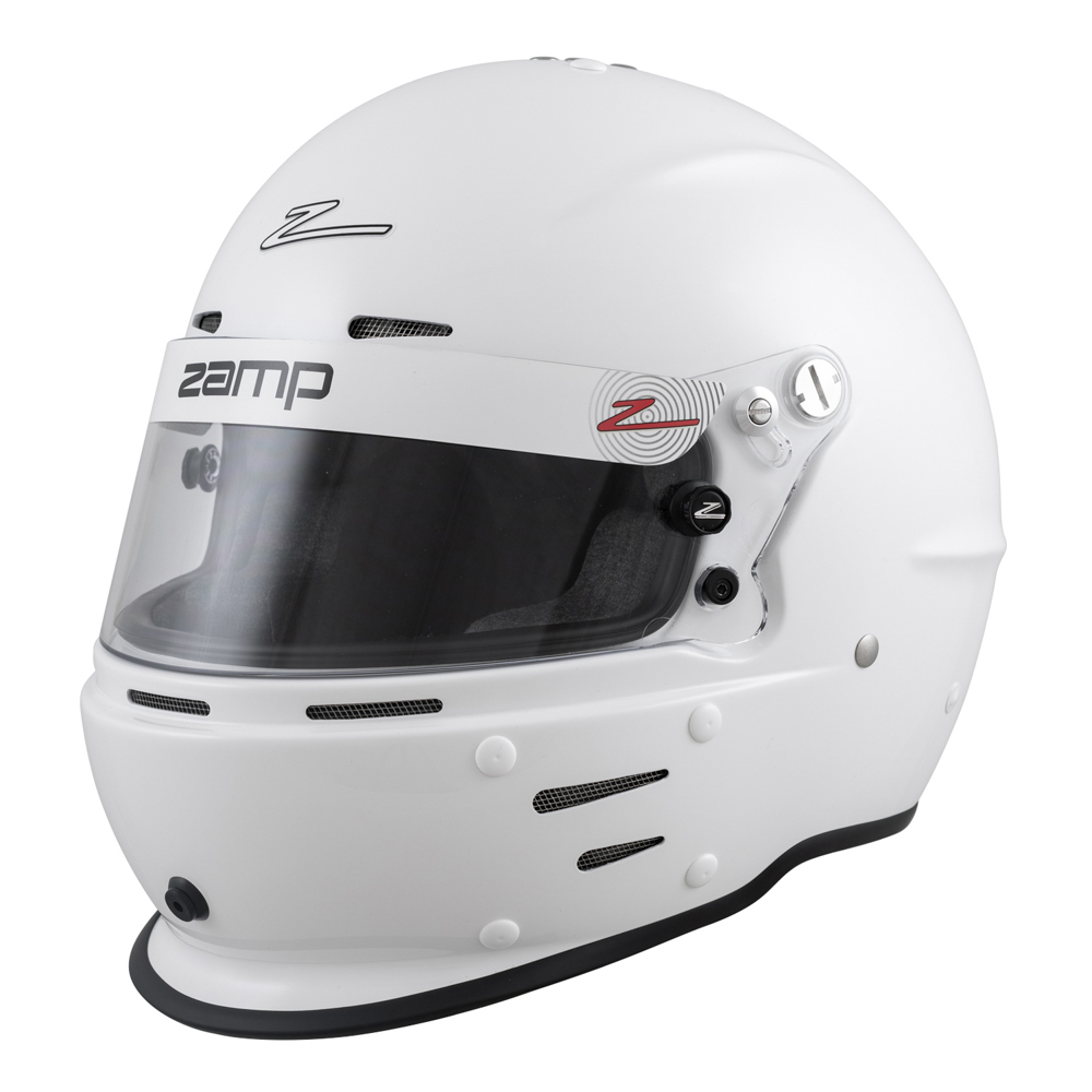 Zamp H764001XL Helmet, RZ-62, Full Face, Snell SA2020, Head and Neck Support Ready, White, X-Large, Each