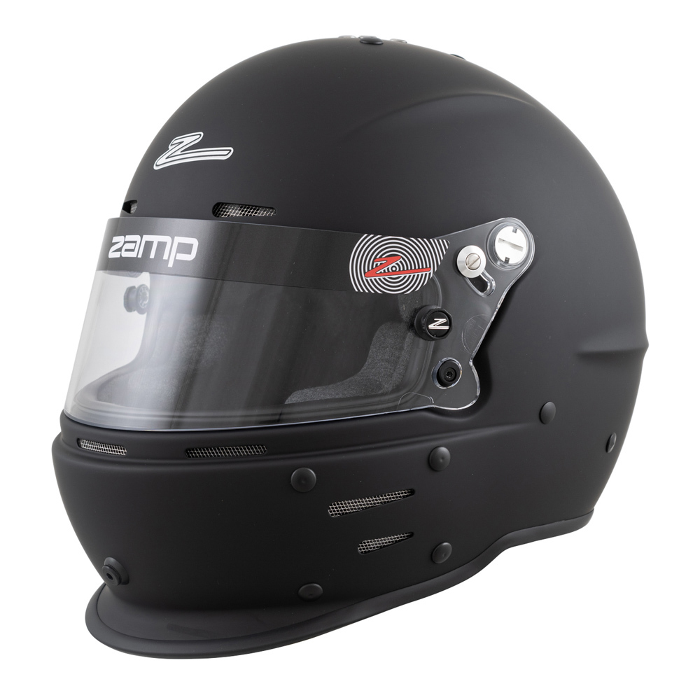 Zamp H76403FL Helmet, RZ-62, Full Face, Snell SA2020, Head and Neck Support Ready, Flat Black, Large, Each