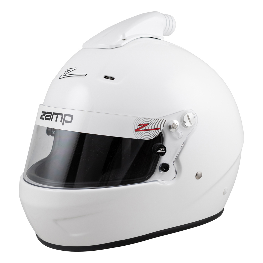Zamp H771001M Helmet, RZ-56 Air, Full Face, Snell SA2020, Head and Neck Support Ready, White, Medium, Each