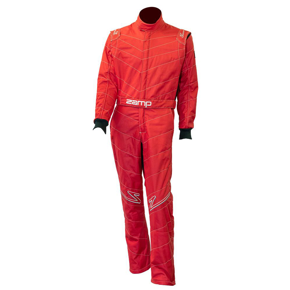 Zamp R040002M Suit, ZR-50, 1 Piece, SFI 3.2A/5, Triple Layer, Fire Retardant Fabric, Red, Medium, Each