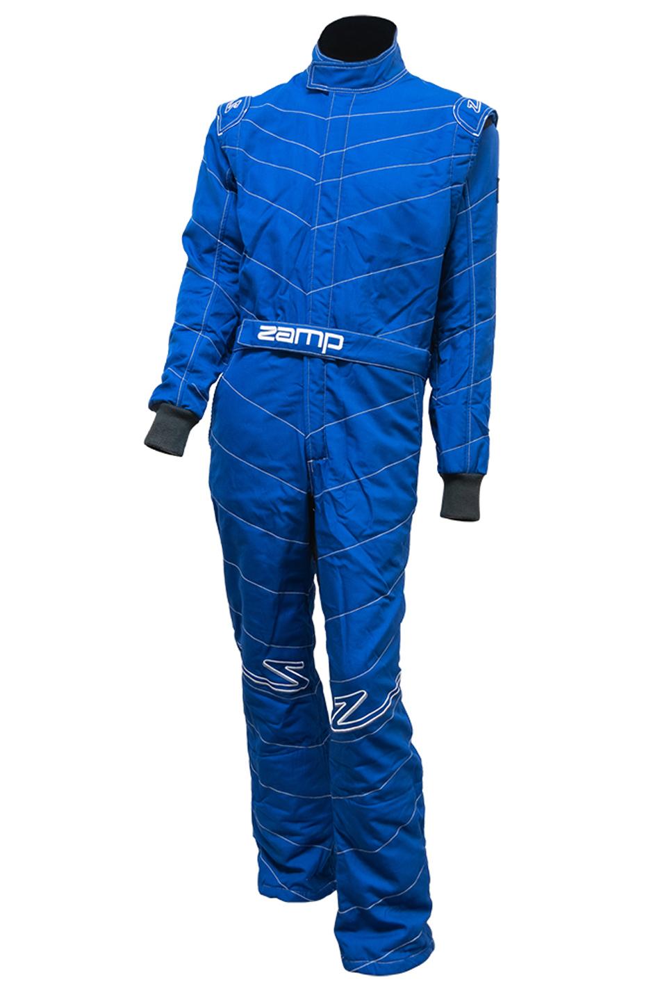 Zamp R040004S Suit, ZR-50, 1 Piece, SFI 3.2A/5, Triple Layer, Fire Retardant Fabric, Blue, Small, Each
