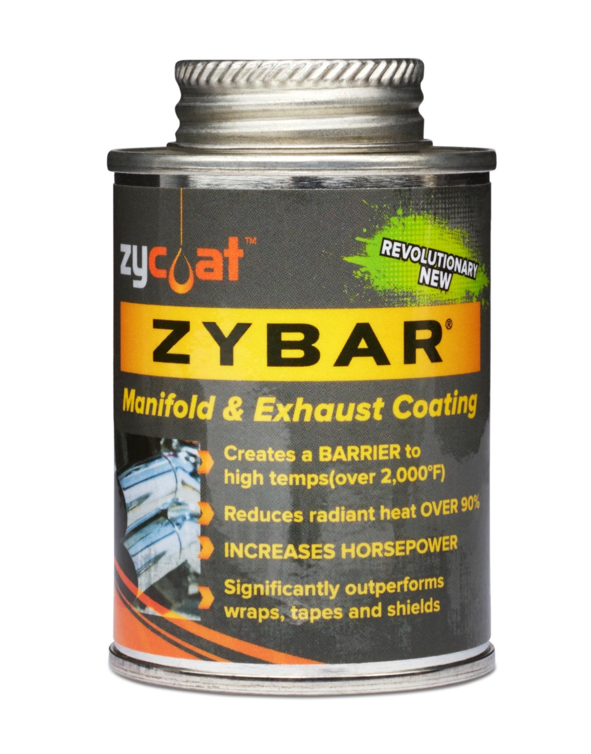Zycoat 11004 Paint, Exhaust / Header, High Temperature, Ceramic Urethane, Midnight Black, 4 oz Can, Each