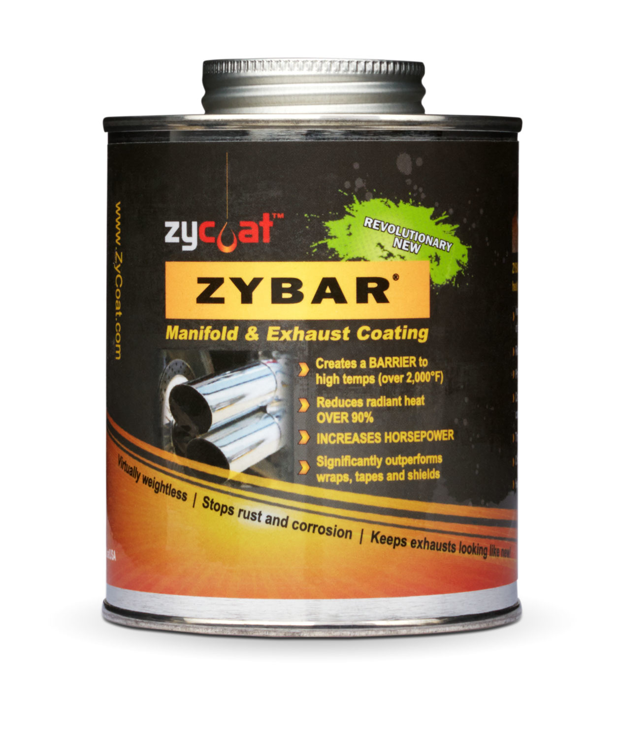 Zycoat 11016 Paint, Exhaust / Header, High Temperature, Ceramic Urethane, Midnight Black, 16 oz Can, Each
