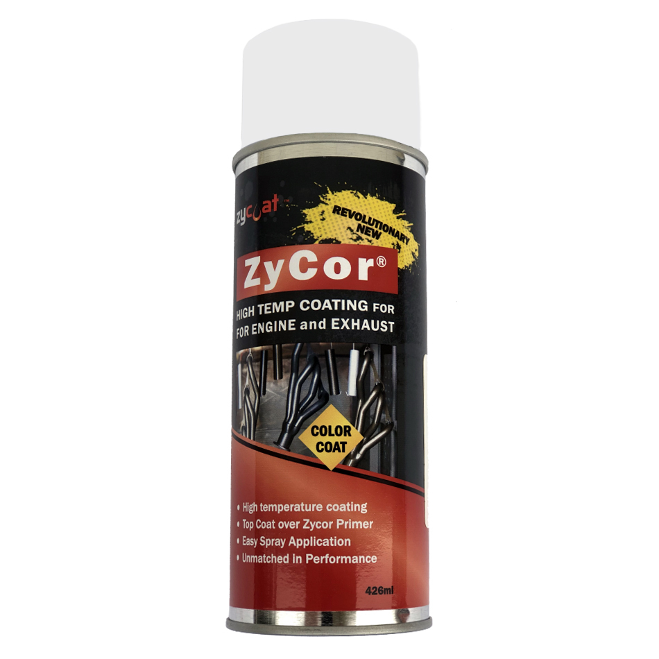 Zycoat 18013 Paint, ZyCor, Gasser White, 13 oz Aerosol, Each