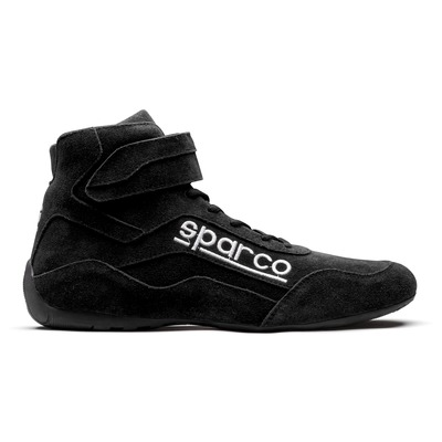 Shoe, Race, Driving, High-Top, SFI 3.3/5, Suede Outer, Fire Retardant Inner, Black, Size 10, Pair