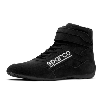 Shoe, Race, Driving, High-Top, SFI 3.3/5, Suede Outer, Fire Retardant Inner, Black, Size 11, Pair